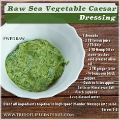 According to Dr. Gabriel Cousens in There Is a Cure For Diabetes - Revised Edition, sea vegetables are included in the general antidiabetogenic diet and can be used abundantly in any diabetic recipe. Try our Raw Diabetic Friendly Sea Vegetable Dressing! #wedraw