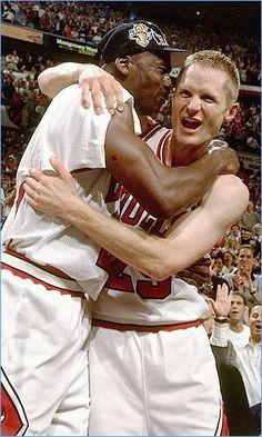 Michael Jordan and Steve Kerr