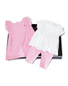 Gingham 3-Piece Gift Set - Baby Girl Dresses & Rompers - RalphLauren.com