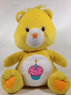 "Care Bears Yellow Cupcake Plush Teddy Bear Nanco Birthday Cake Celebration 15""  #CareBears #AllOccasion"