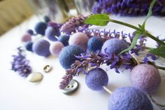 lilac, lavender, blueberry