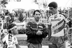 """""""Perico"""" Delgado y Miguel Indurain."""