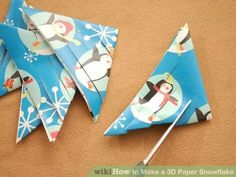 Image titled Make a 3D Paper Snowflake Step 3