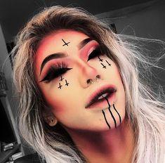 10 Spooky Makeup Looks for the Halloween Fanatic Cute Halloween Makeup, Halloween Eyes, Halloween Makeup Looks, Horror Makeup, Scary Makeup, Demon Makeup, Sfx Makeup, Face Makeup, Gothic Makeup
