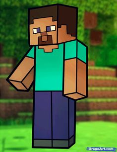 how to draw steve from minecraft, minecraft steve