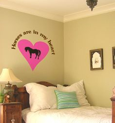 Horse-Horse sticker-Vinyl wall decal-Horse decal-Quote-Wall words-38 X 36 inches.