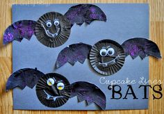 Cupcake Liner Bats (from I Heart Crafty Things)