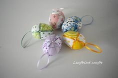 Your place to buy and sell all things handmade Satin Ribbons, Diy Easter Decorations, Chicken Eggs, Egg Decorating, Easter Ideas, Easter Eggs, Tapestry, Christmas Ornaments, Holiday Decor