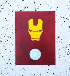 Minimalist Iron Man on Canvas Iron Man Art Paint, Canvas Drawings, Iron Man Painting, Iron Man Painting Canvases, Canvas Painting Designs, Avengers Painting, Mini Canvas Art, Disney Canvas Art, Cute Canvas Paintings