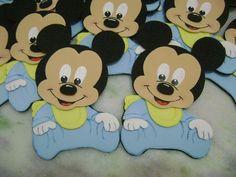 Molde de goma eva de Mickey bebé - Imagui