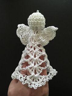 Ravelry: Engel B pattern by Miranda Veelbehr Crochet Angel Pattern, Crochet Angels, Knitting Patterns, Crochet Patterns, Angel Crafts, Holiday Crochet, Basic Crochet Stitches, Angel Ornaments, Crochet Slippers