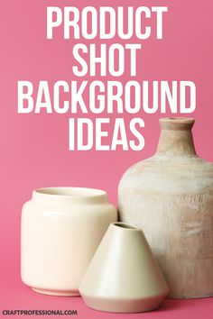 Product shot background ideas. Creative photography backdrops that are easy to make or affordable to buy. #productphotography #craftprofessional
