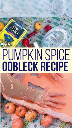This pumpkin spice oobleck recipe is perfect for Fall sensory play for kids. Oobleck is squishy and goopy, and edible (though not tasty), making it perfect sensory play for babies and toddlers too. Edible Sensory Play, Sensory Play Recipes, Baby Sensory Play, Sensory Bins, Oobleck Recipe, How To Make Oobleck, Bartholomew And The Oobleck, Orange Food Coloring, Diy Holiday Gifts