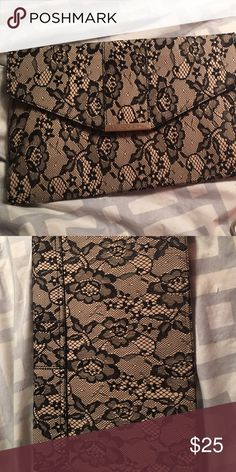 JustFab Clutch NEW NWT NEVER USED JustFab Bags Clutches & Wristlets