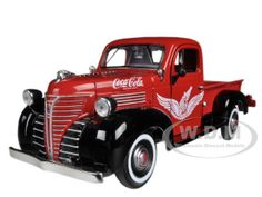 "red coca cola trucks | 1941 Plymouth Pickup Truck Red ""Coca Cola"" 1/24 Diecast Car Model by ..."