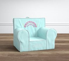 Aqua Rainbow Anywhere Chair® | Pottery Barn Kids