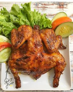 Resep Ayam Panggang Ala Restoran By Braised Chicken, Roast Chicken, Snack Recipes, Cooking Recipes, Good Food, Yummy Food, Indonesian Cuisine, Asian Recipes, Ethnic Recipes