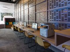 Mac or PC? This business center comes fully-equipped with a printer and whatever computing platform residents desire.