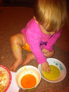 Edible Fingerpaints that don't use food coloring dyes....but actual food to create the colors!