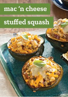Mac 'n Cheese Stuffed Squash -- Pretty much everyone likes a stuffed squash recipe. And here's another truth: Even more people like it when the stuffing is creamy mac and cheese!