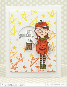 Happy Halloween Card by Nichole Heady for Papertrey Ink (August 2016)