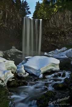 Tamanawas Falls near Mount Hood, Oregon.