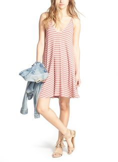 In love with this comfy yet cute striped dress that is easy to wear on a warm day.