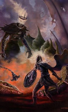 Eowyn contre le Roi-Sorcier d'Angmar