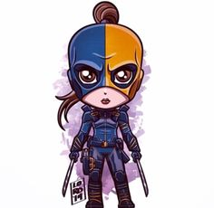 Isabel/Ravager (ARROW - TV series) played by actress, Summer Glau. Chibi Marvel, Marvel Dc Comics, Chibi Characters, Marvel Characters, Supergirl, Lord Mesa Art, Arrow Art, Deathstroke, Disney Marvel