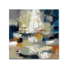 Add color and chic style to your space with the Silvia Vassileva Full Moon II with White Unframed Wall Canvas from Trademark Fine Art. This canvas wall art features abstract brushstrokes in white,… White Canvas Art, Abstract Canvas Art, Canvas Artwork, Canvas Wall Art, Canvas Prints, Abstract Lines, Blue Abstract, Framed Art, Graphic Art