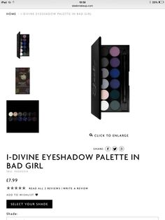 Can't resist a palette called Bad Girl. Plus it's looks like it will create the perfect smoky eye.