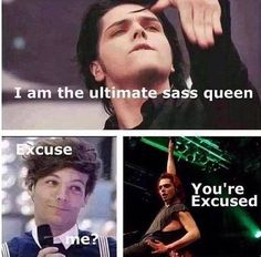 Gerard Way is the ultimate sass queen. He really is.
