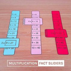 Multiplication-fact-sliders-times-tables-math-learning-aid MATHEMATIC HISTORY Mathematics is among the oldest sciences in human history. Math For Kids, Puzzles For Kids, Kids Fun, Help Kids, Fun Math, Math Worksheets, Math Activities, Division Activities, Nutrition Activities