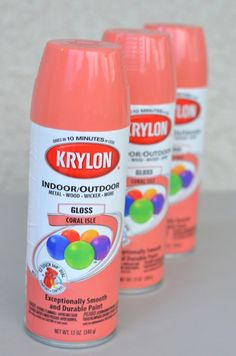 think this is the color for my table in the foyer!!!! so bright and happy krylon coral isle spray paint