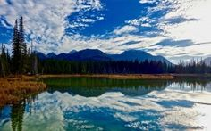 Preview wallpaper lake, mountains, clouds, reflection