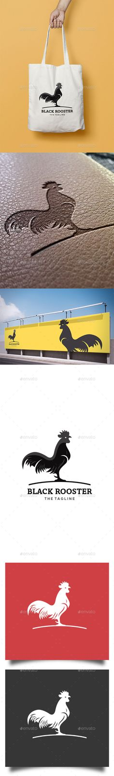 Black Rooster Logo — Vector EPS #vintage #masculine • Available here → https://graphicriver.net/item/black-rooster-logo/16796369?ref=pxcr