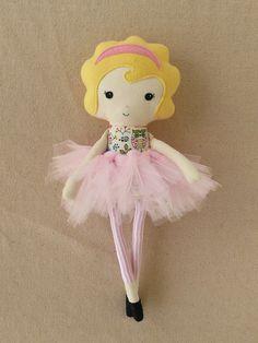 Fabric Doll Rag Doll with Pink Tutu. $30 via Etsy.
