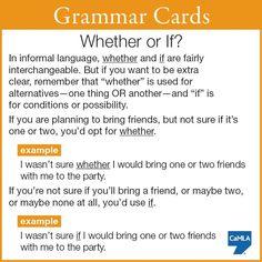 #grammar #esl, whether or if