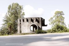 Bizarre brutalist and experimental Soviet bus stops Bus Stop Design, Chlorophytum, Bus Shelters, Roadside Attractions, Bus Station, Brutalist, See Photo, Abandoned, Concrete