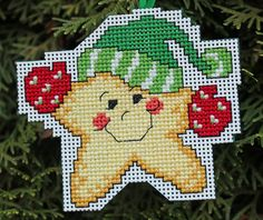 Cross Stitch adornos de Navidad - estrellas