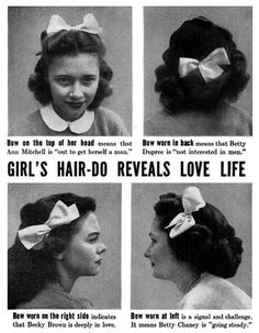 This is kind of funny, I never knew where you wear a bow mattered.