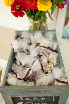 Smore Wedding Favors  www.tablescapesbydesign.com https://www.facebook.com/pages/Tablescapes-By-Design/129811416695