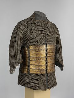 Probably Egyptian. Shirt of Mail and Plate of Al-Ashraf Sayf ad-Din Qaitbay (ca. Burji Mamluk Sultan of Egypt ca. The Metropolitan Museum of Art New York. Purchase Arthur Ochs Sulzberger Gift and Rogers Acquisitions and Fletcher Funds 2016 Chainmaille, Chainmail Armor, Historical Art, Historical Clothing, Egypt Museum, Ottoman Turks, Arm Armor, Medieval Armor, Still Standing