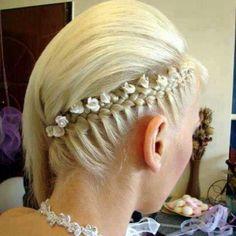 Bridal Corn row wrap braid