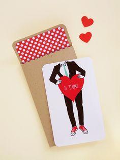 DIY 'Je t'aime' mini card sets » Eat Drink Chic
