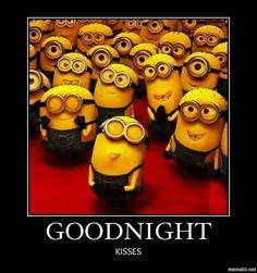 Funny good night Minion Quotes Sayings - Yahoo Search Results Yahoo Image Search Results Amor Minions, Cute Minions, Minions Despicable Me, Minions Quotes, Minion Stuff, Minions Images, Minion Humor, Funny Minion, Good Night Meme