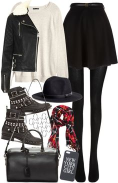 91a2a9f5e outfit for winter by im-emma featuring a motorcycle jacket