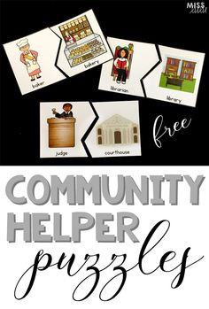 Use these puzzles as a fun way to teach about community helpers and careers. Includes a worksheet for recording answers at 3 differentiated levels.