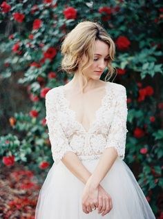Romantic Lace Bridal Portrait Ideas | Erich Mcvey  (also love her lose and slightly untidy up do)