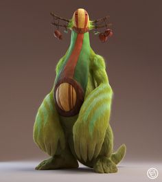 Rajak - The Big Furry Creature on Behance by Emilie Stabell More Characters here.